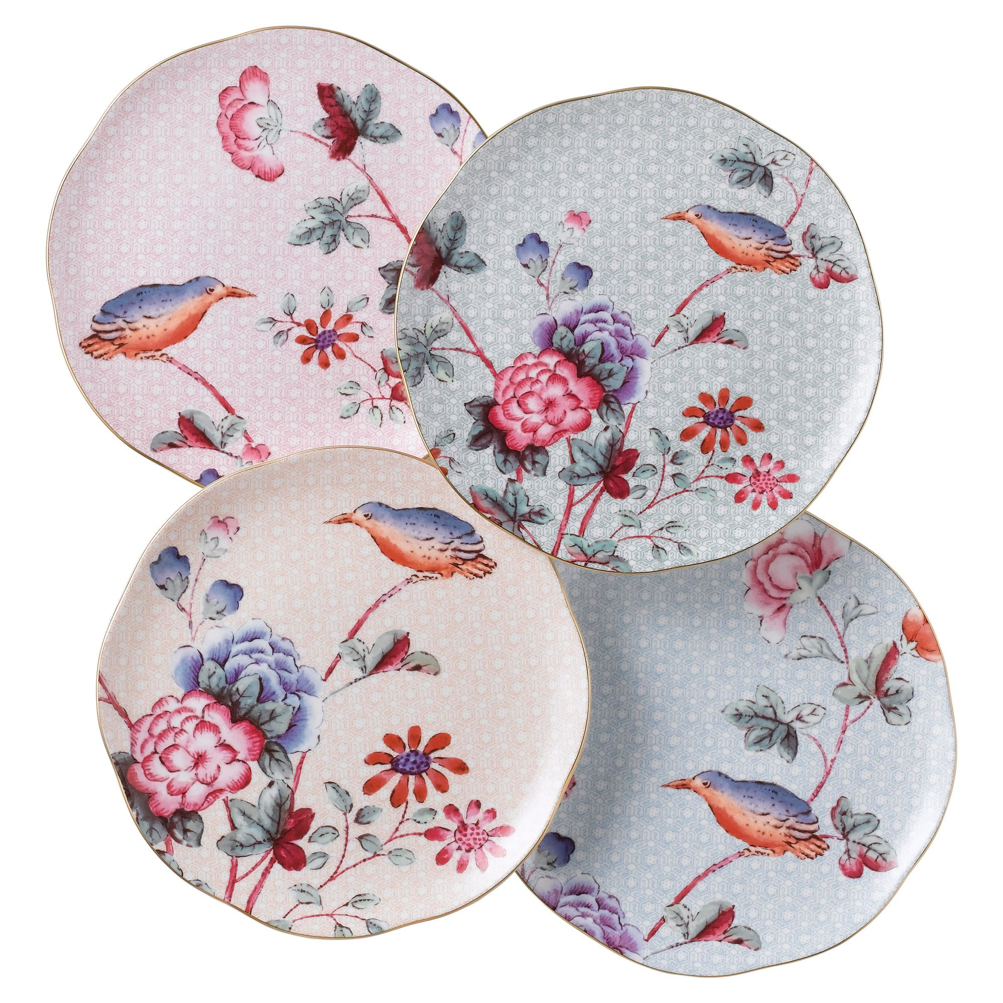 Cuckoo tea plates set of 4