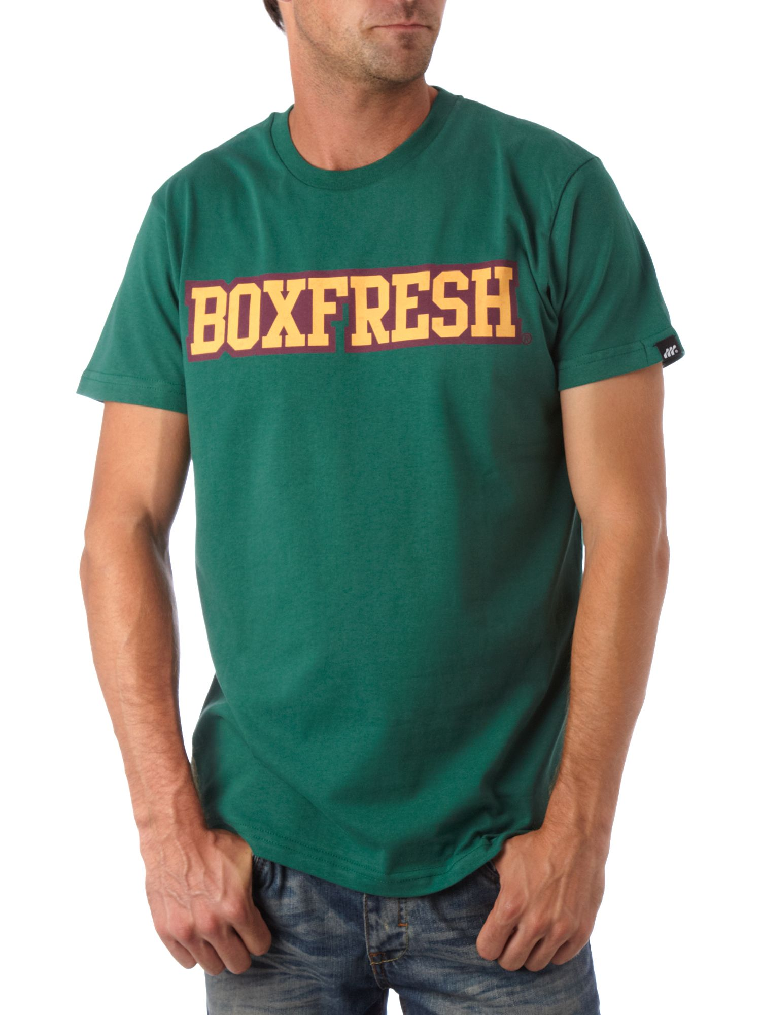 Collegic chest logo T-shirt Green