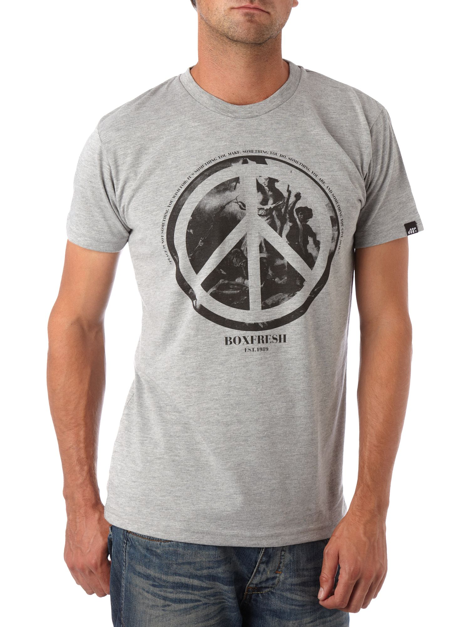 Peace over war T-shirt Grey Marl