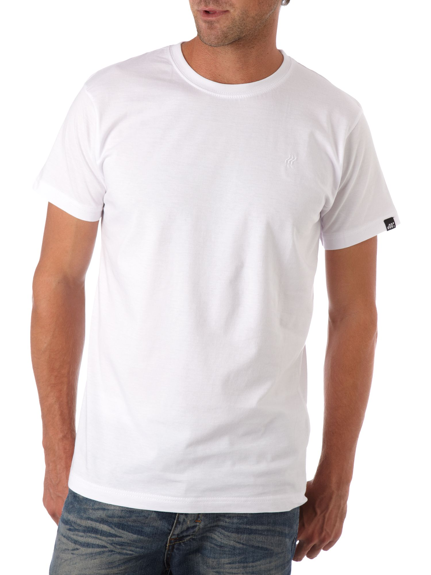 Basic small chest logo T-shirt White