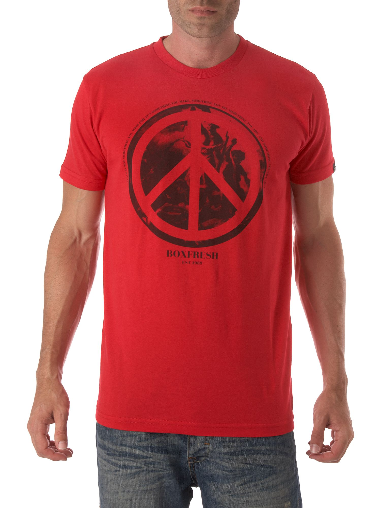 Peace over war T-shirt Red