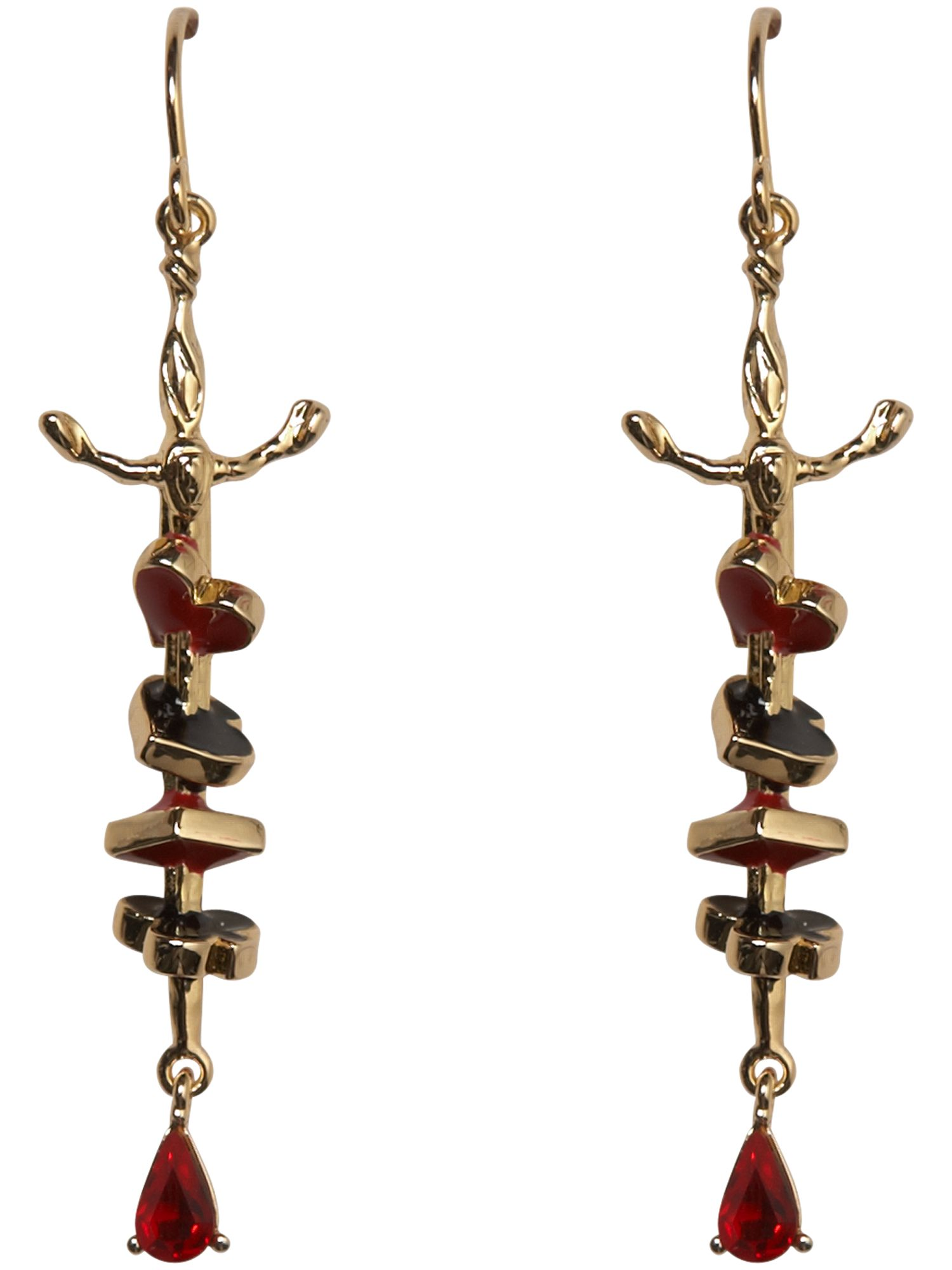 Sword and dagger drop earrings