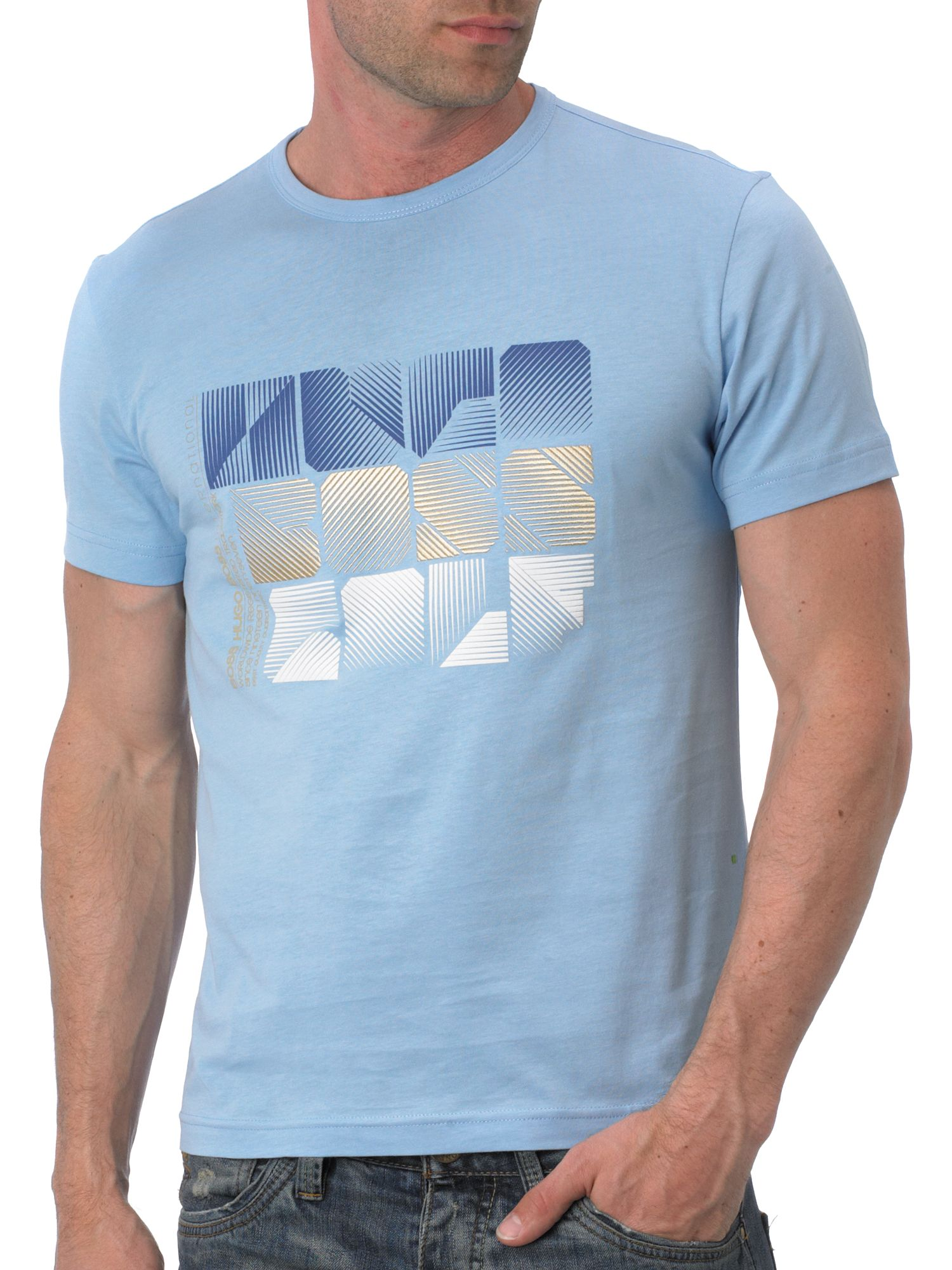 Hugo Boss Square Logo T-Shirt Blue product image