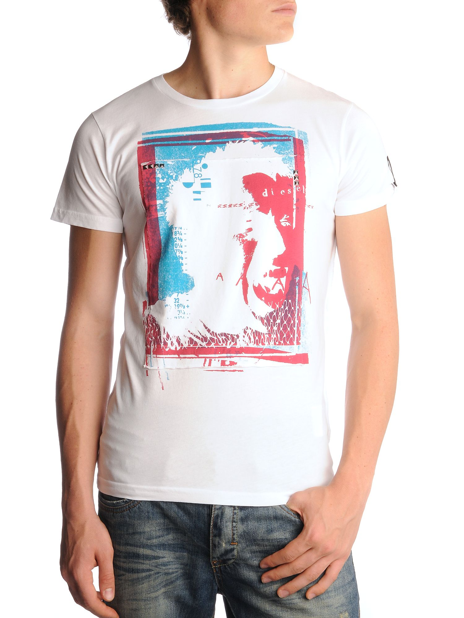 Diesel Punk Head T-shirt White product image