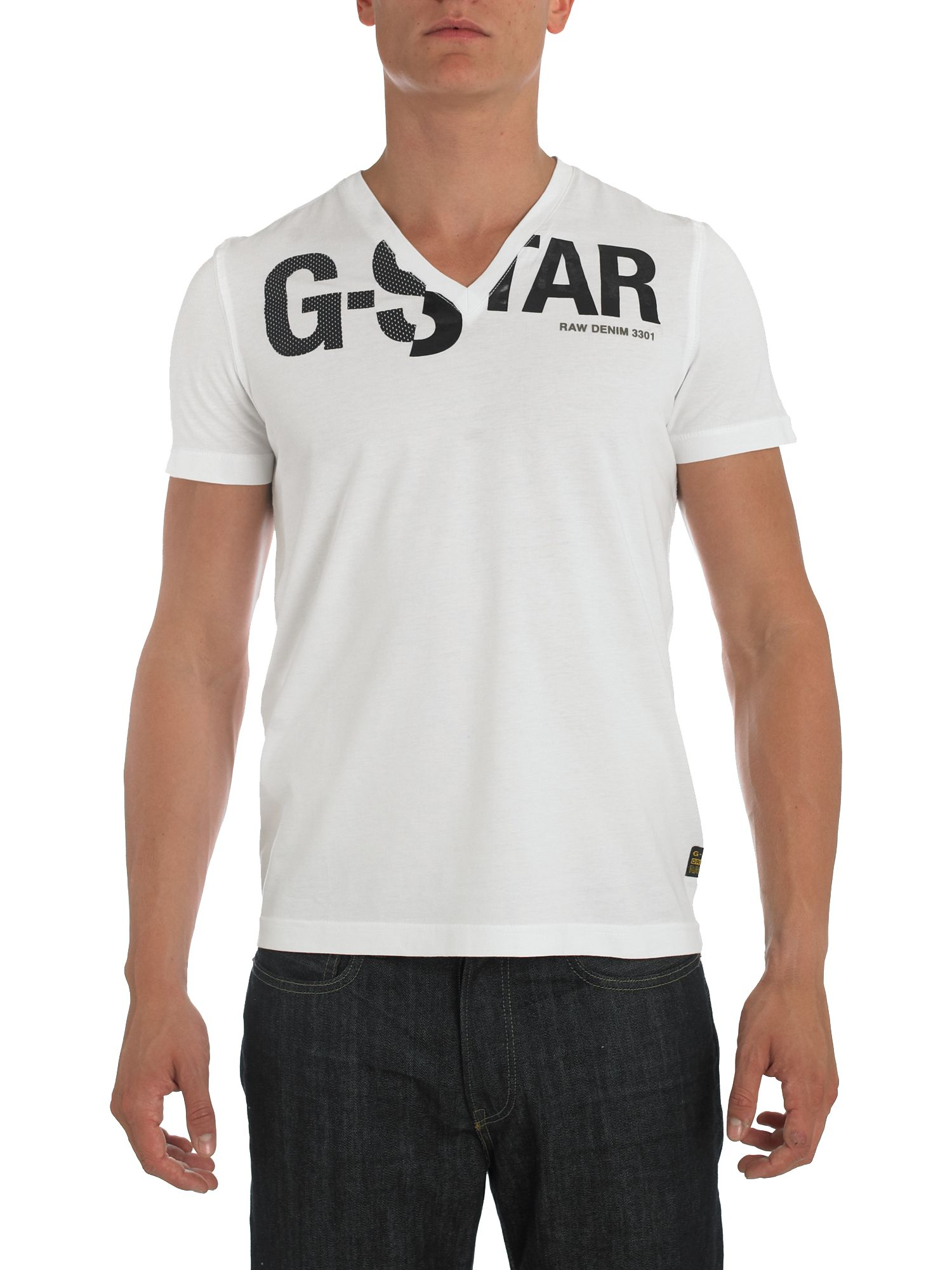 G-Star Short sleeve v-neck logo t-shirt product image