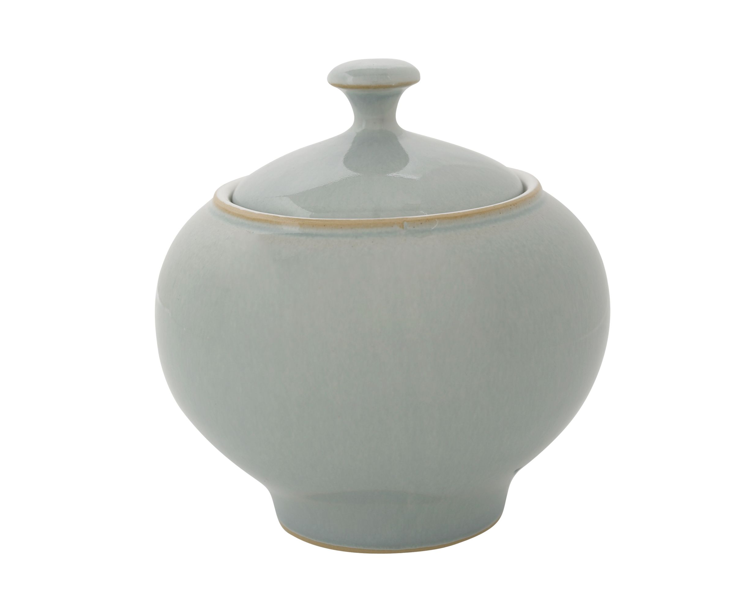 Natural Blue Covered Sugar Bowl