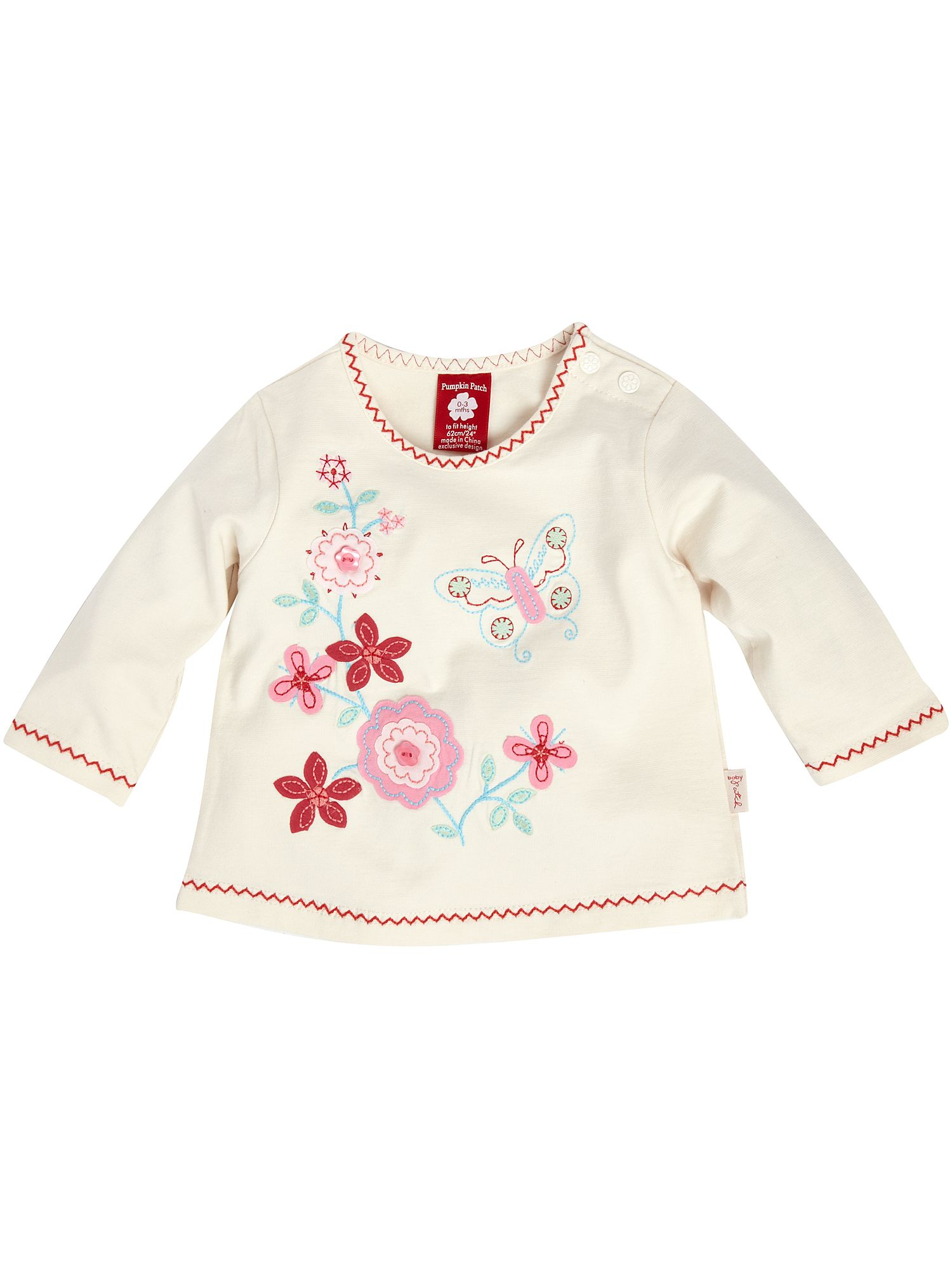 Pumpkin Patch Long-sleeved butterfly T-shirt White product image