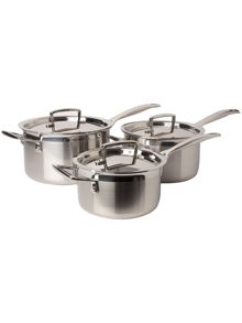 3-Ply Stainless Steel 3 Piece Saucepan Set