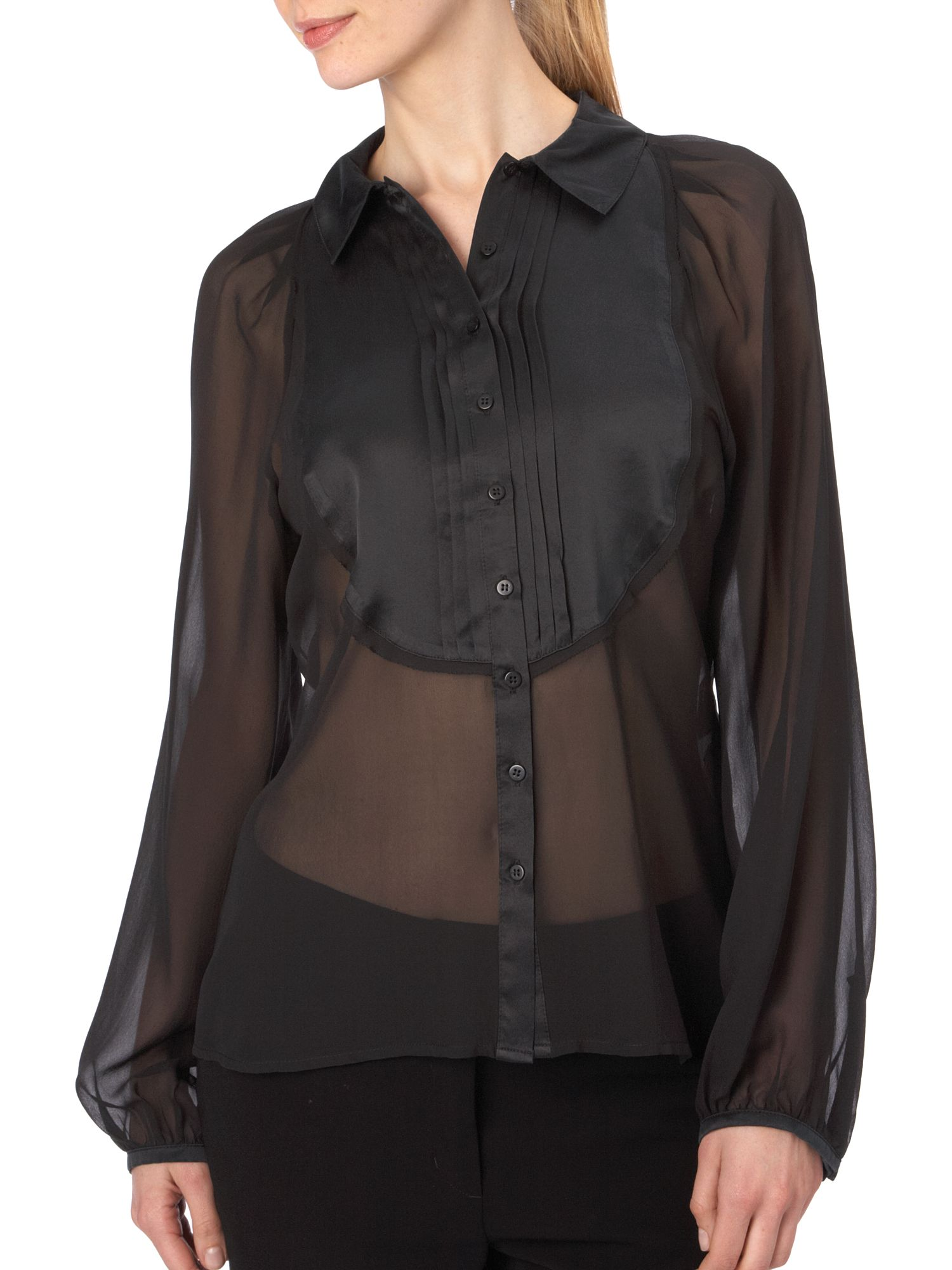 Linea Georgette Blouse Black product image