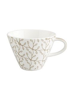 Caffe club floral caramel l coffee cup