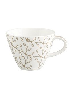 Caffe club floral caramel coffee cup