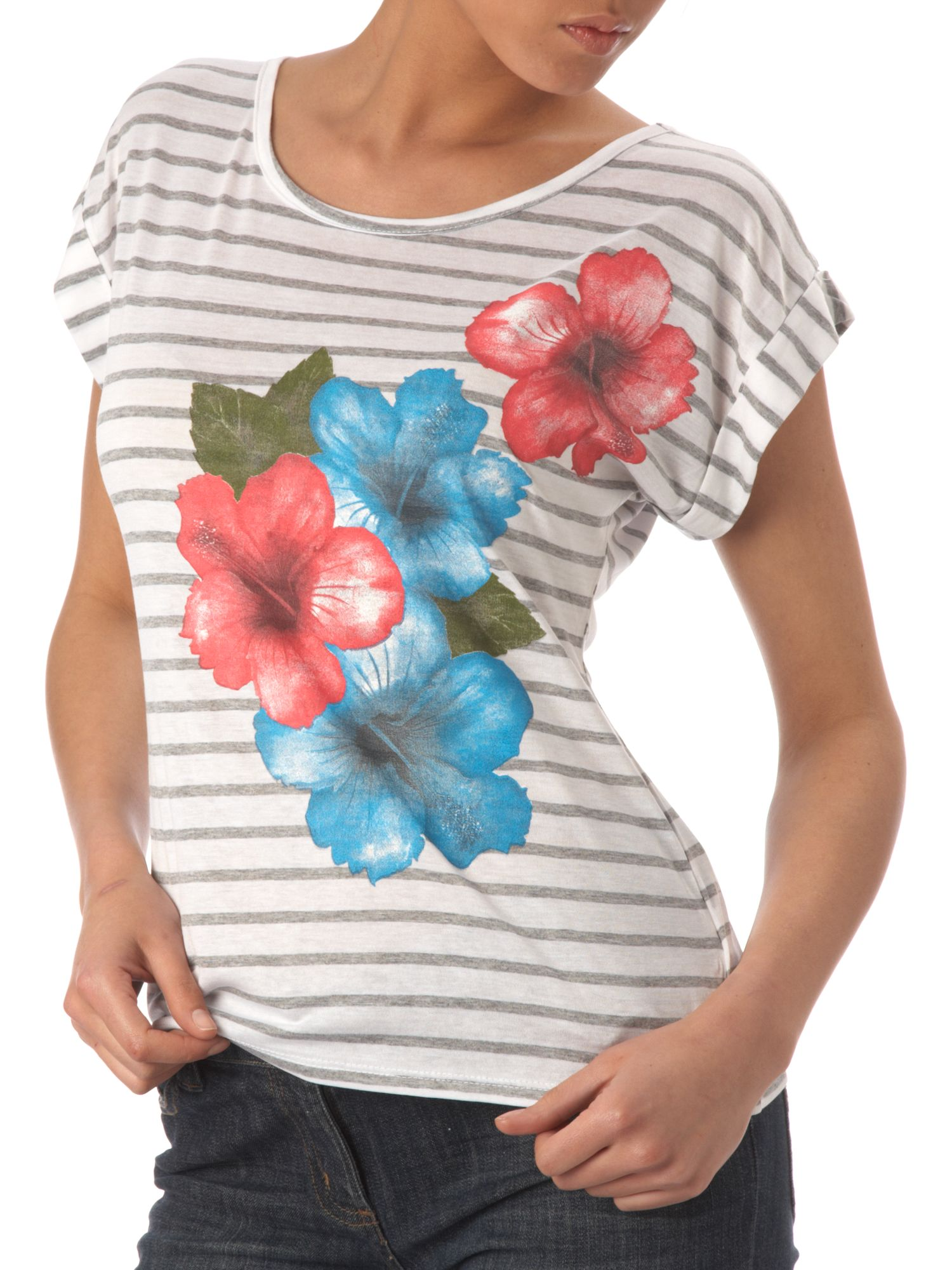 Therapy New stripe flower print t-shirt product image