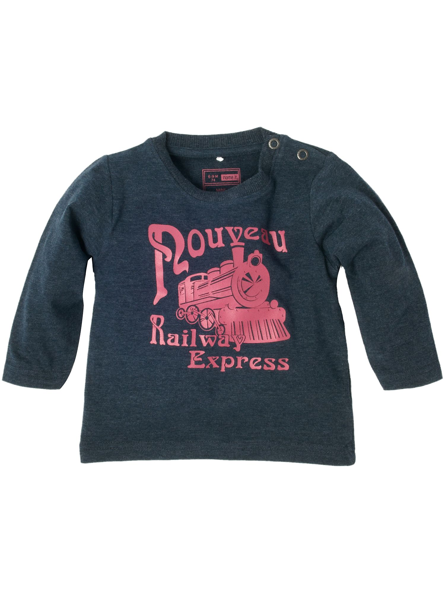 Name It Long-sleeved railway express printed T-shirt Navy product image