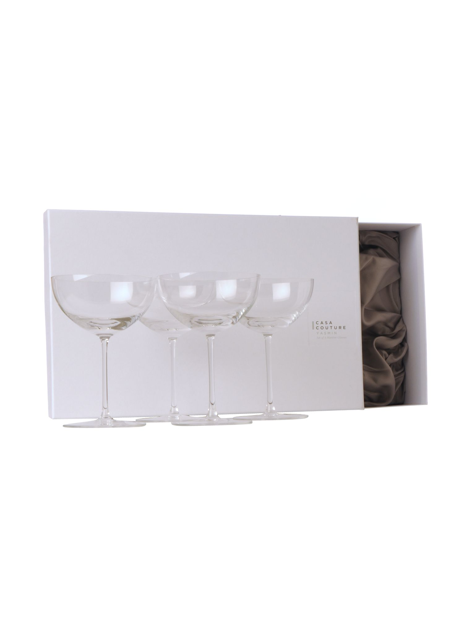Casa Couture Yasmin martini glasses box of 4