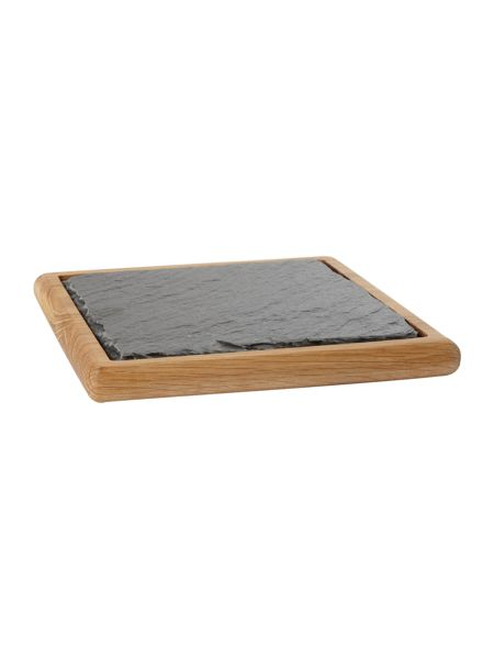 Linea Slate and oak square trivet