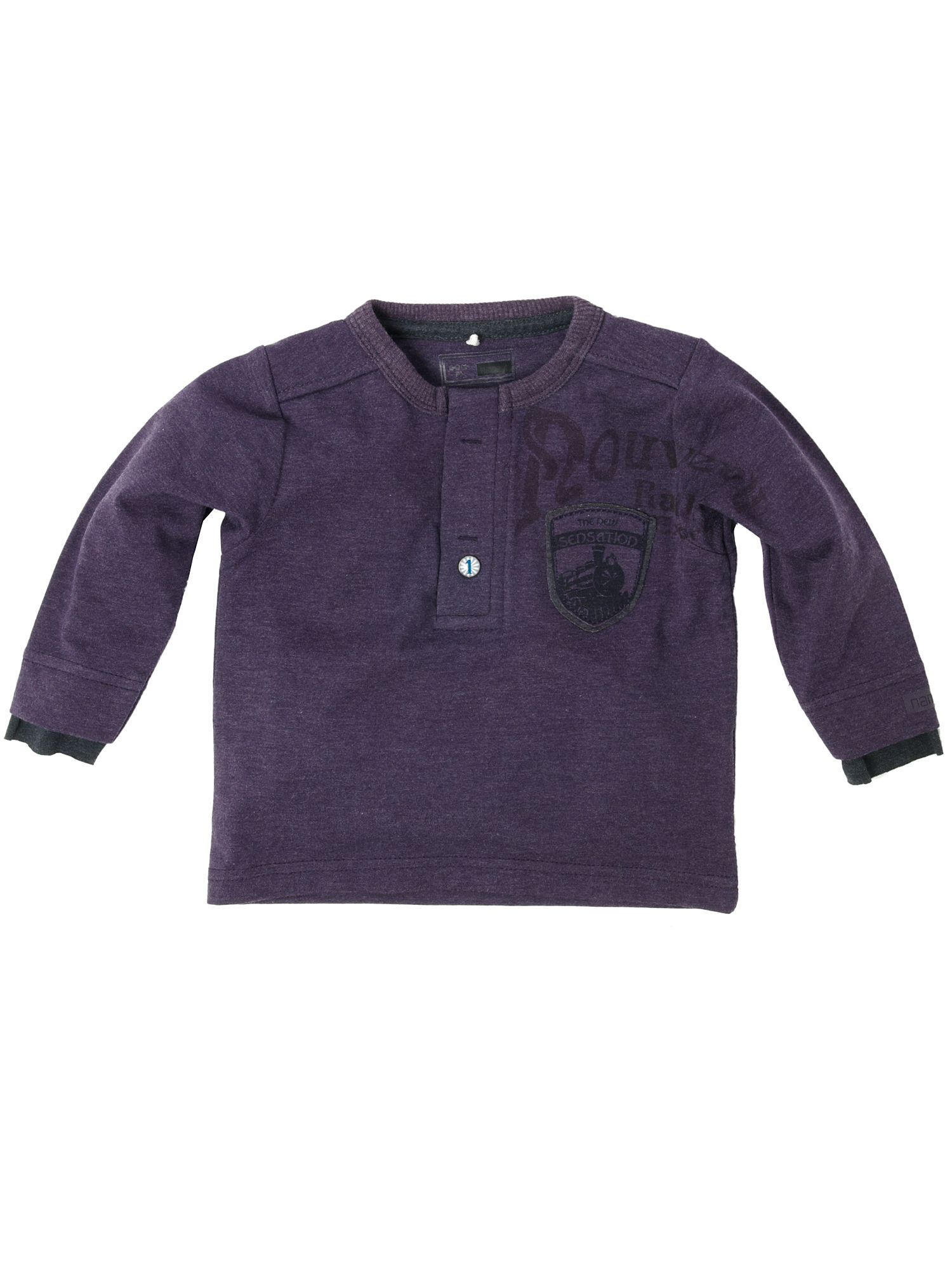 Name It Long-sleeved henley style T-shirt Purple product image