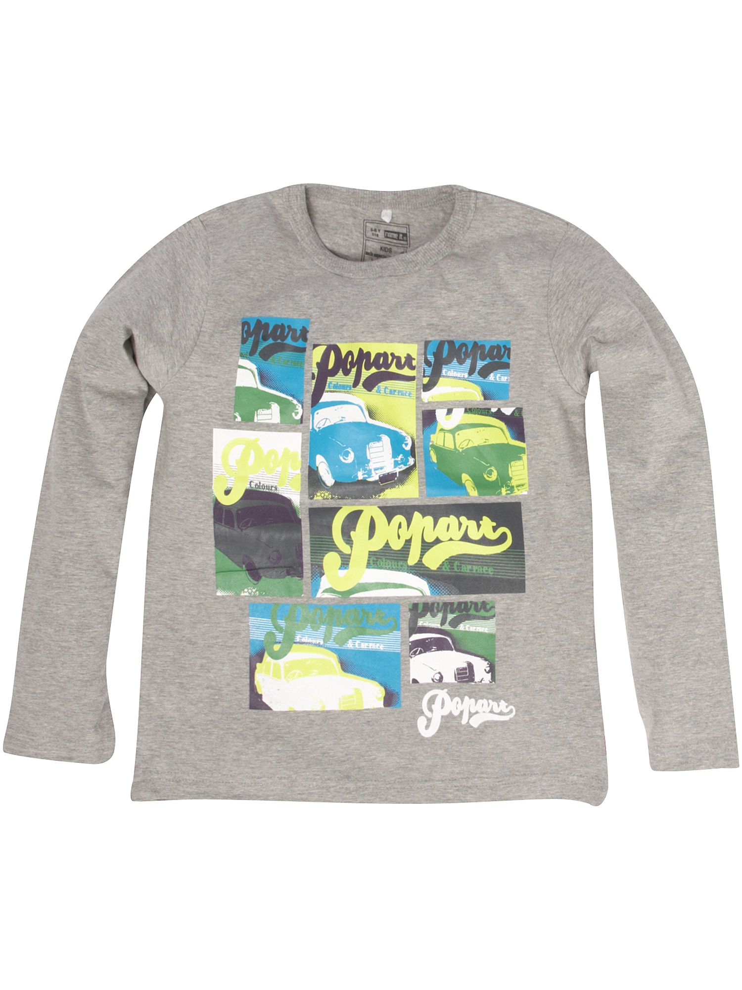 Name It Long-sleeved multi car print T-shirt Grey product image