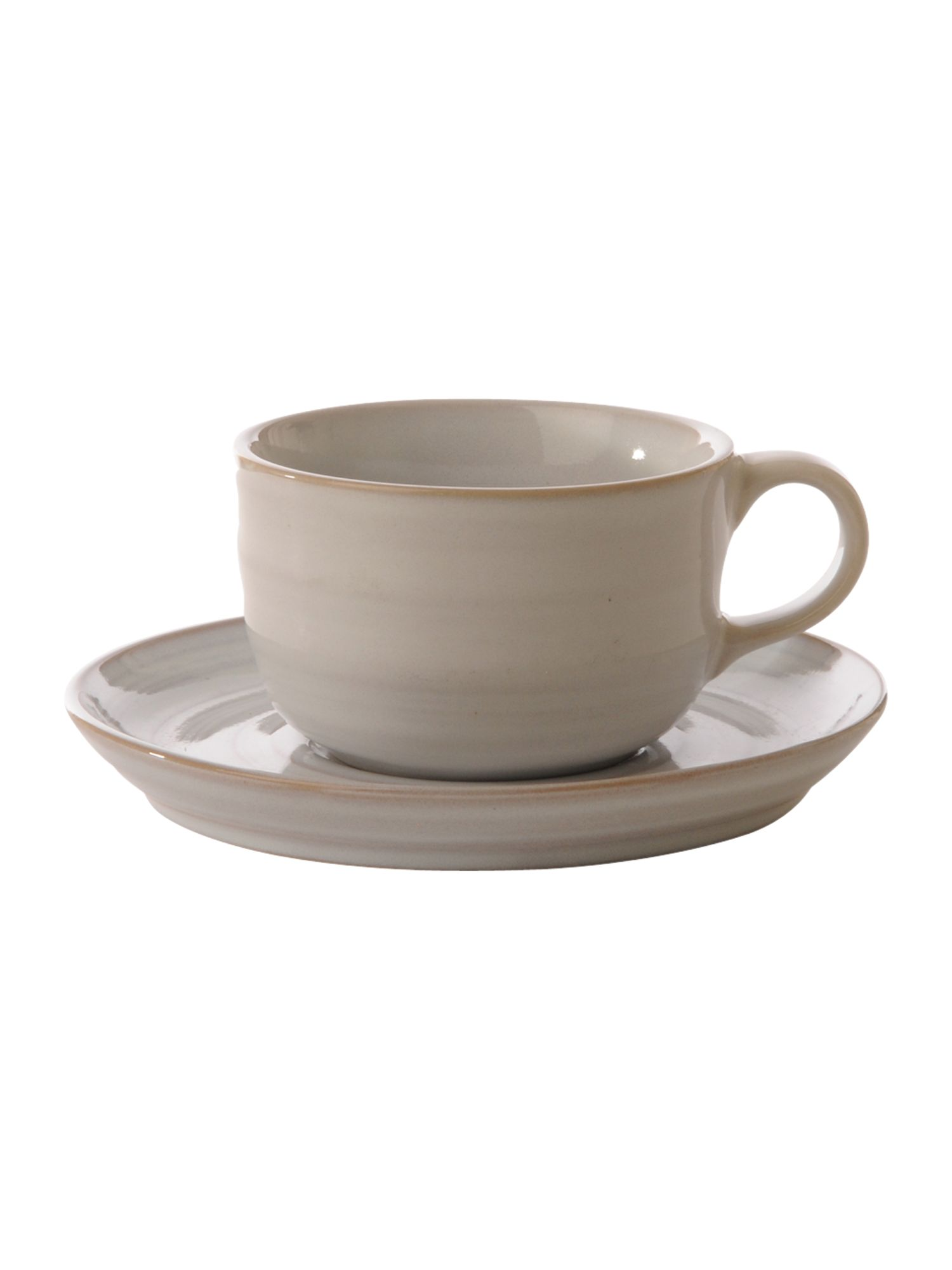 Echo white teacup and saucer