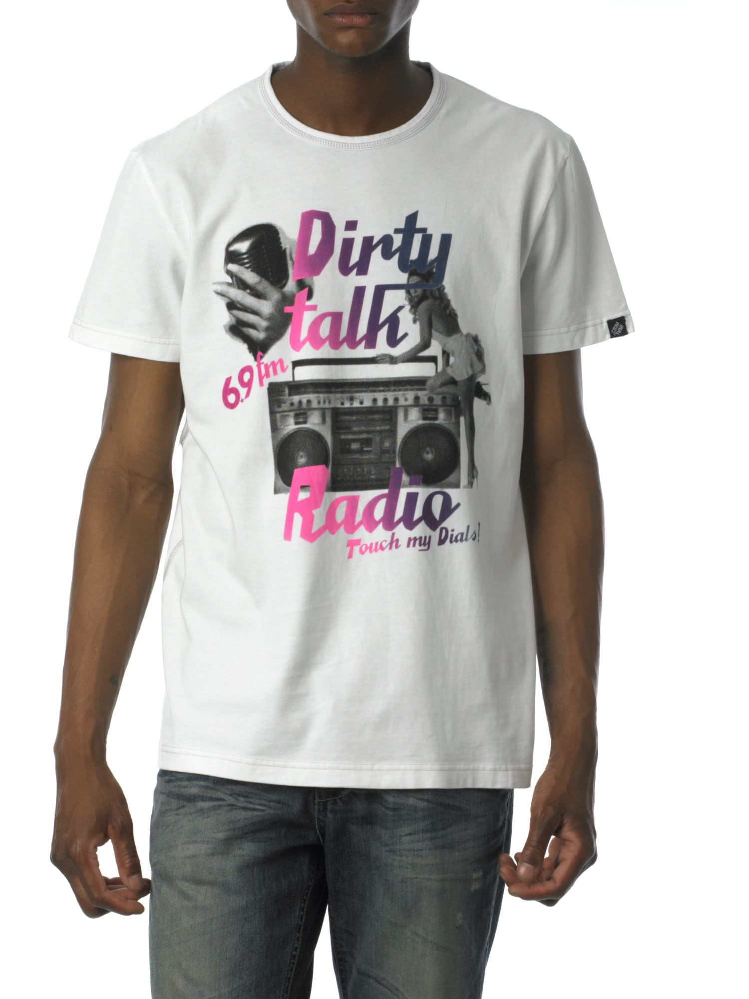 Criminal Radio touch my dials! printed graphic tee product image