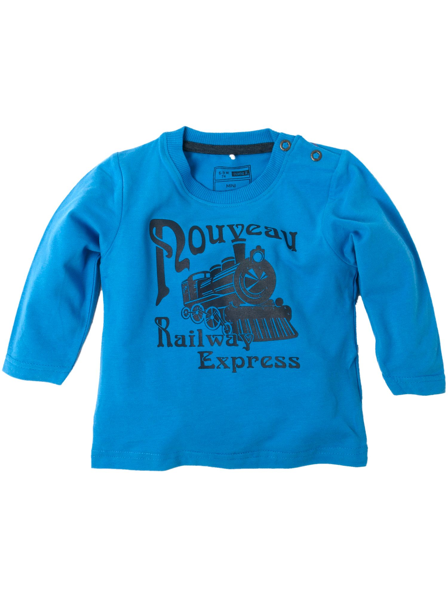 Name It Long-sleeved railway express printed T-shirt Sky product image