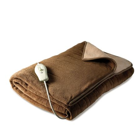 Morphy Richards 75320 cream and brown electric blanket throw