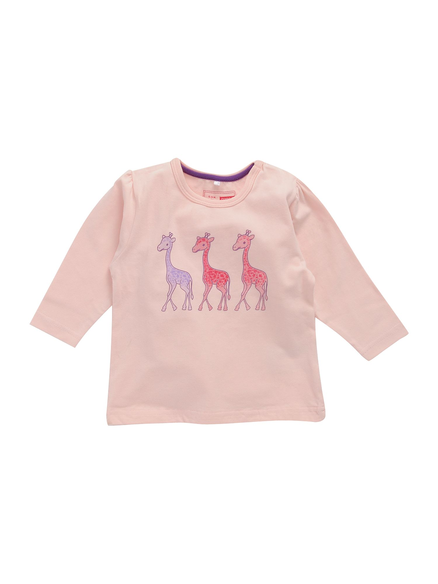 Name It Long-sleeved giraffe print T-shirt Pastel Pink product image