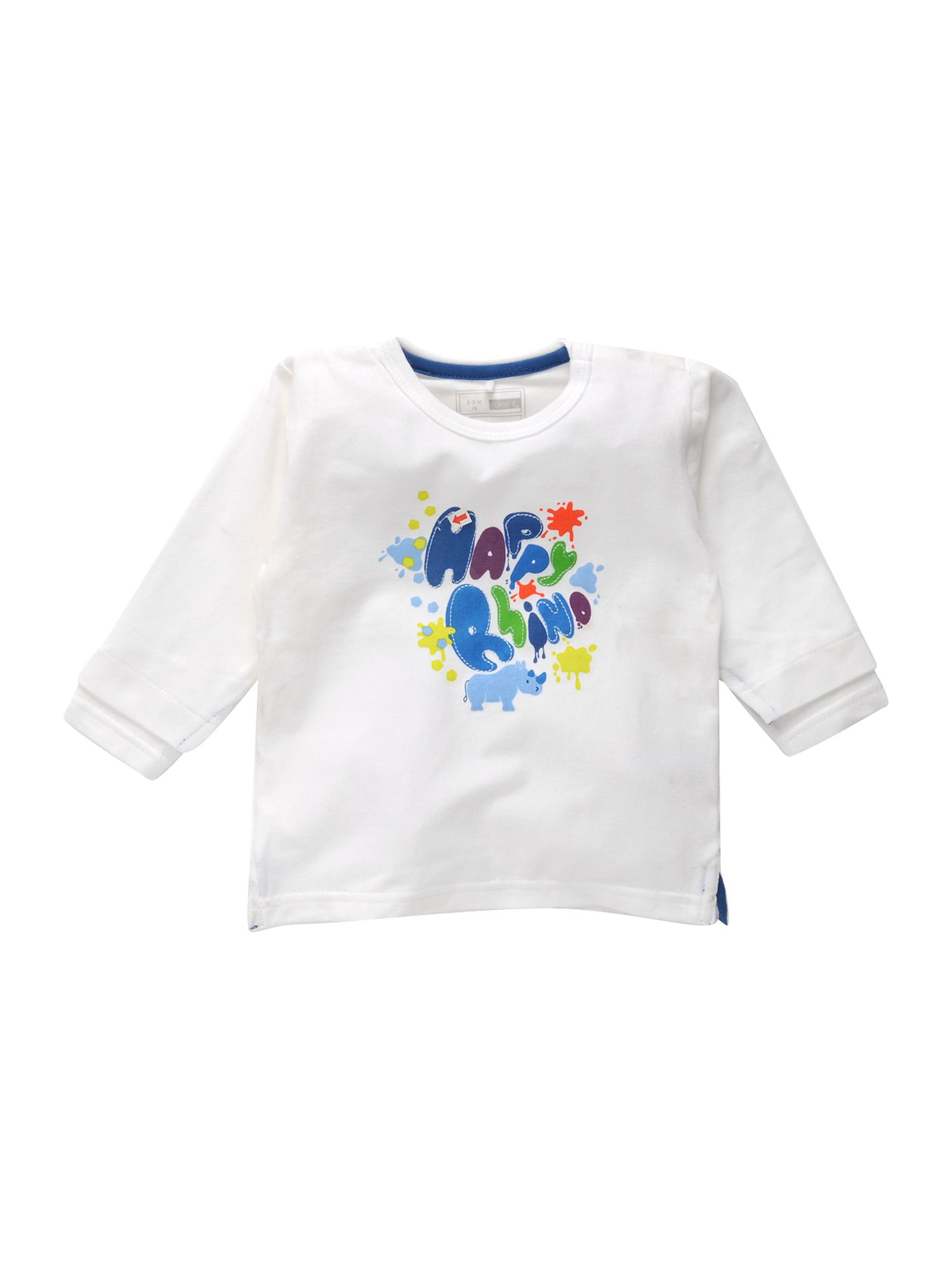 Name It Long-sleeved happy rhino printed T-shirt White product image