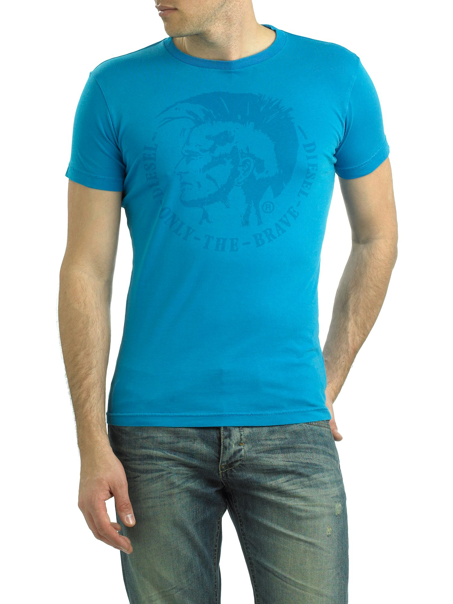 Diesel Mens Diesel T-shirt mohican basic, Blue product image