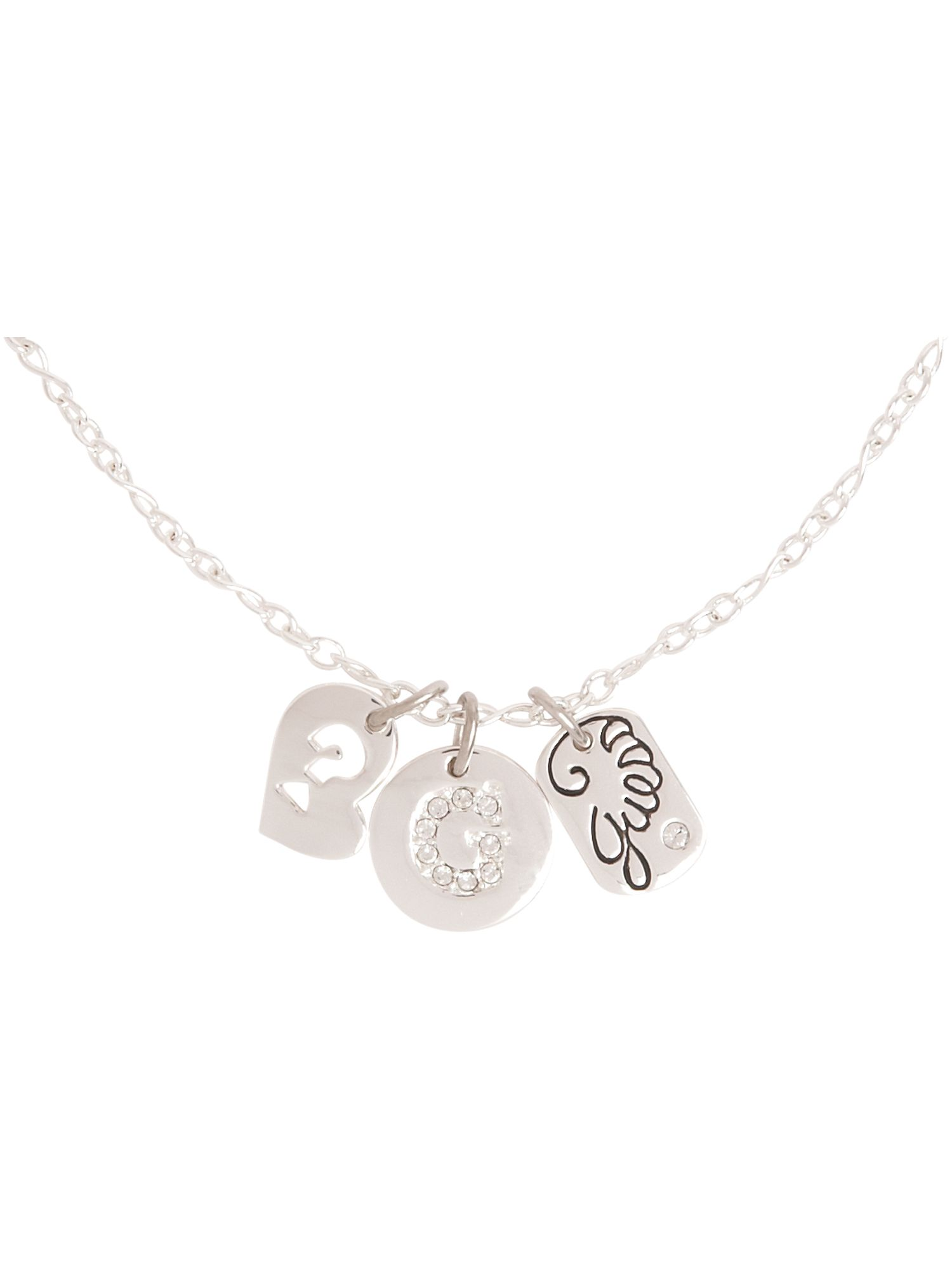 Guess Triple charm silver plated necklace product image