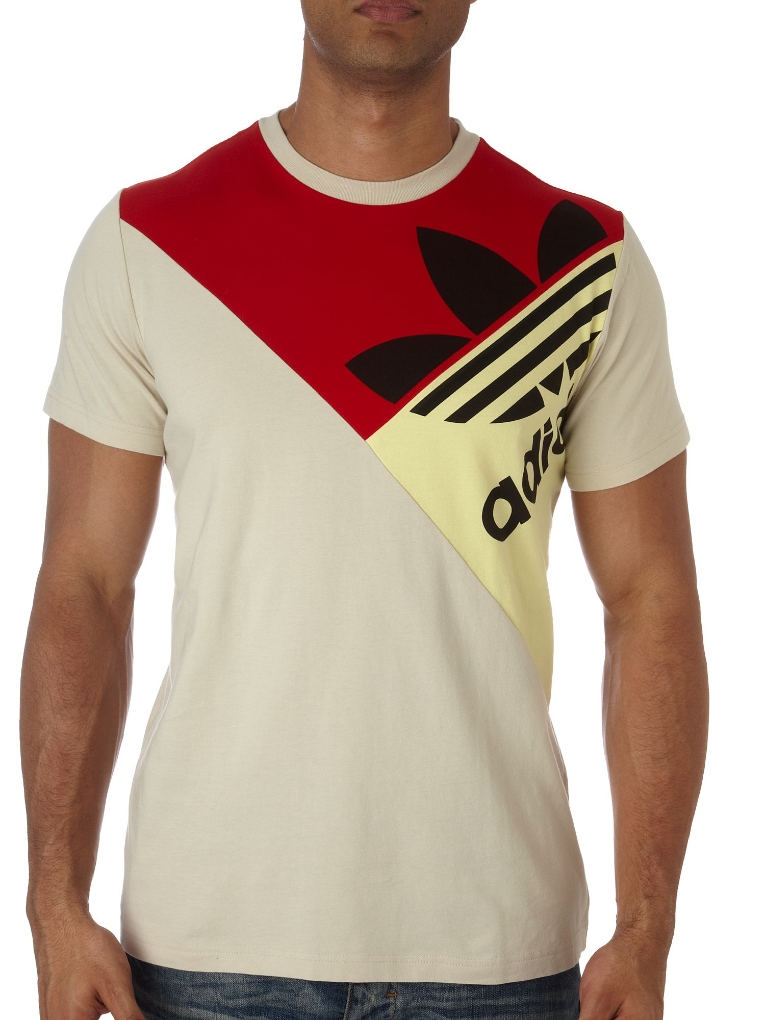 Adidas Triangle logo t-shirt Grey product image