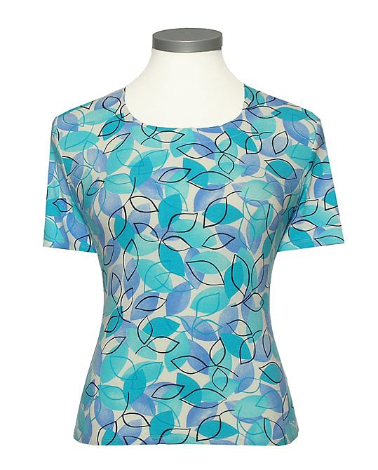 Eastex Shadow leaf t-shirt Turquoise product image