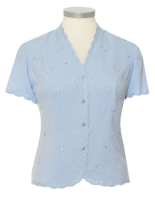 Eastex Short sleeve scallop blouse product image