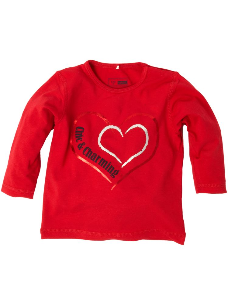 Name it long sleeve heart print t shirt in red ebay for Print name on shirt