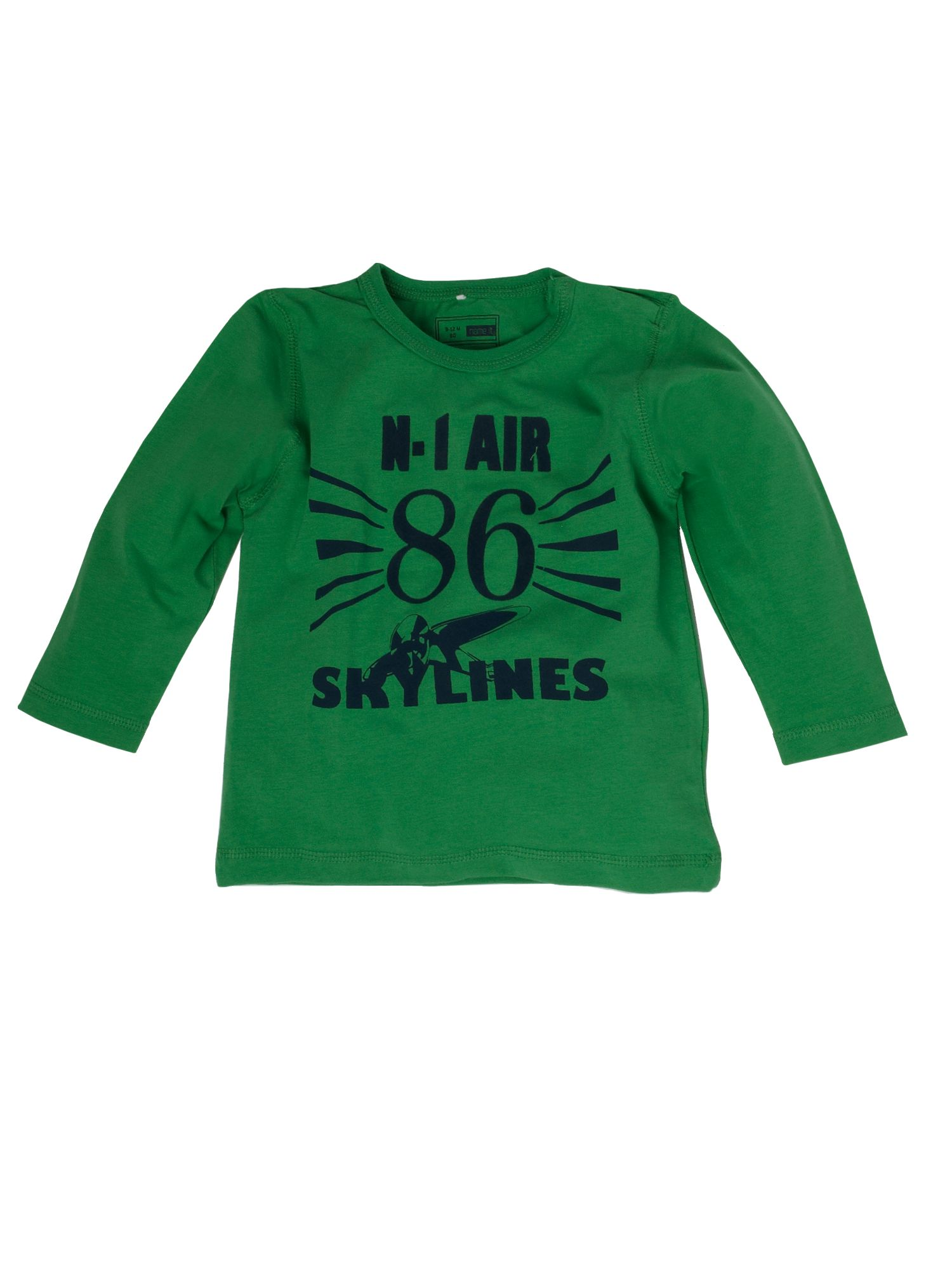 name it Long-sleeved air force print T-shirt - Green `2 product image