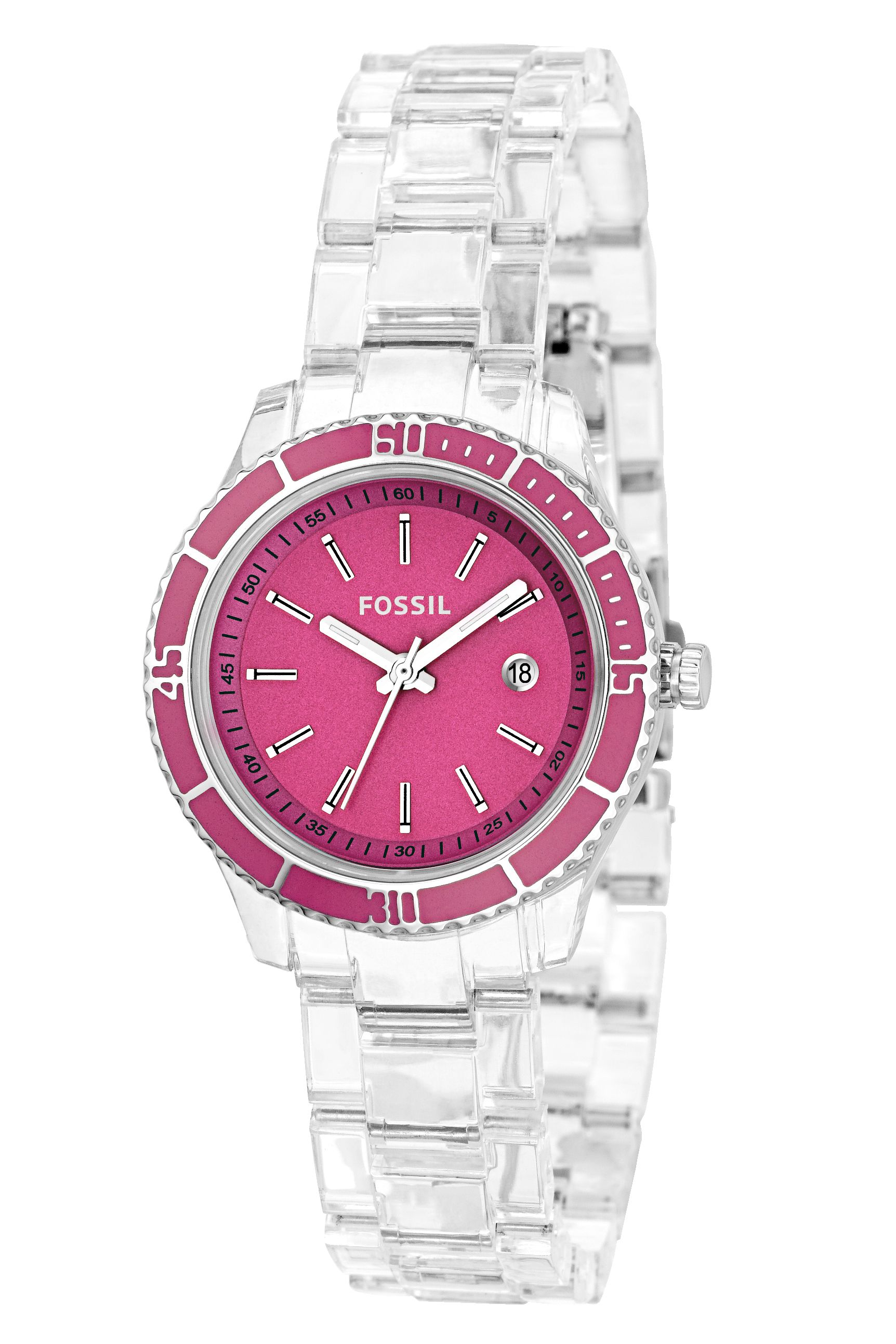 pink accessories gallery hilfiger lyst womens watches leather product tommy strap watch normal women s