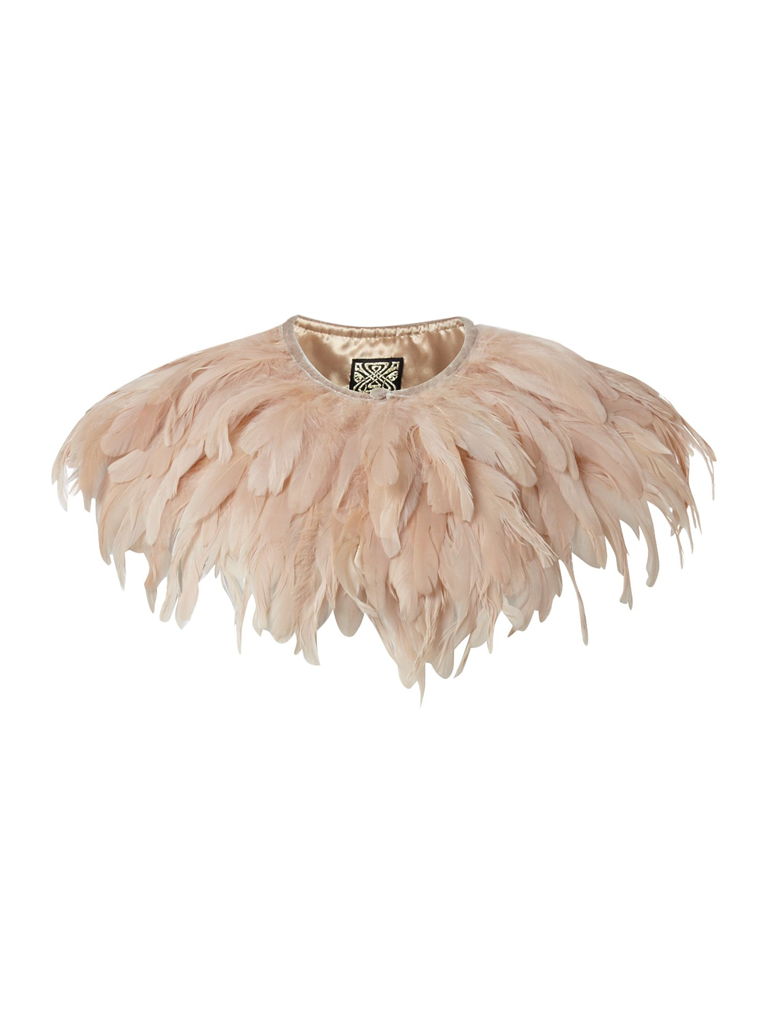 Feather cape Pink