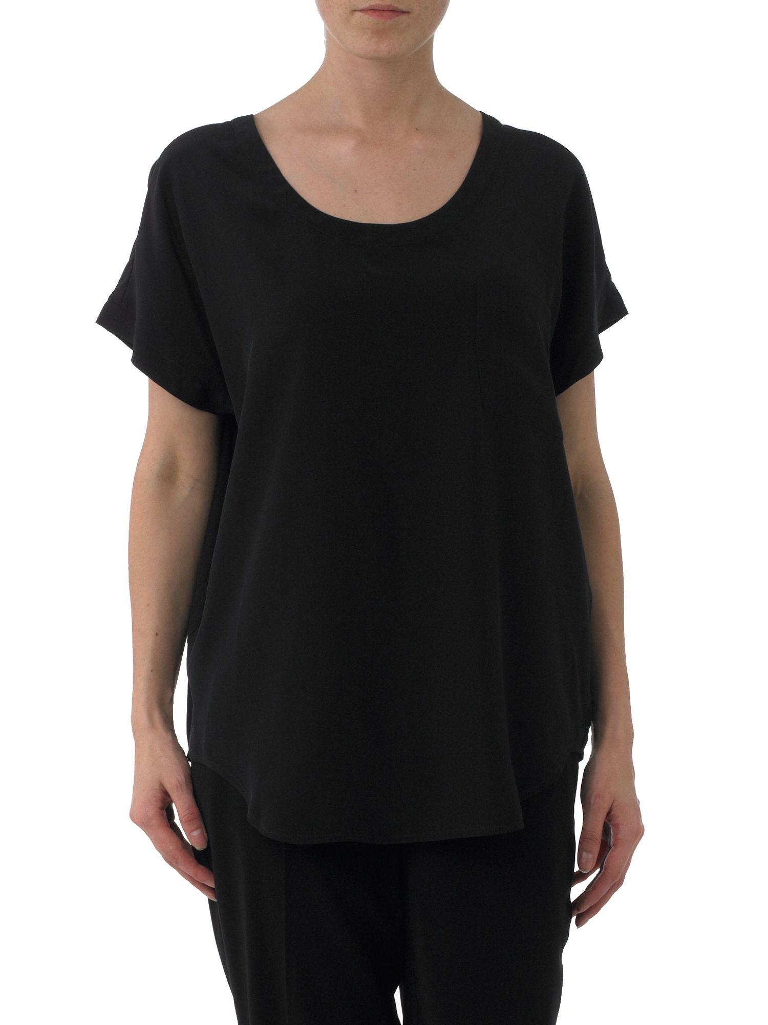 Kenneth Cole Oversized silk tee Black product image