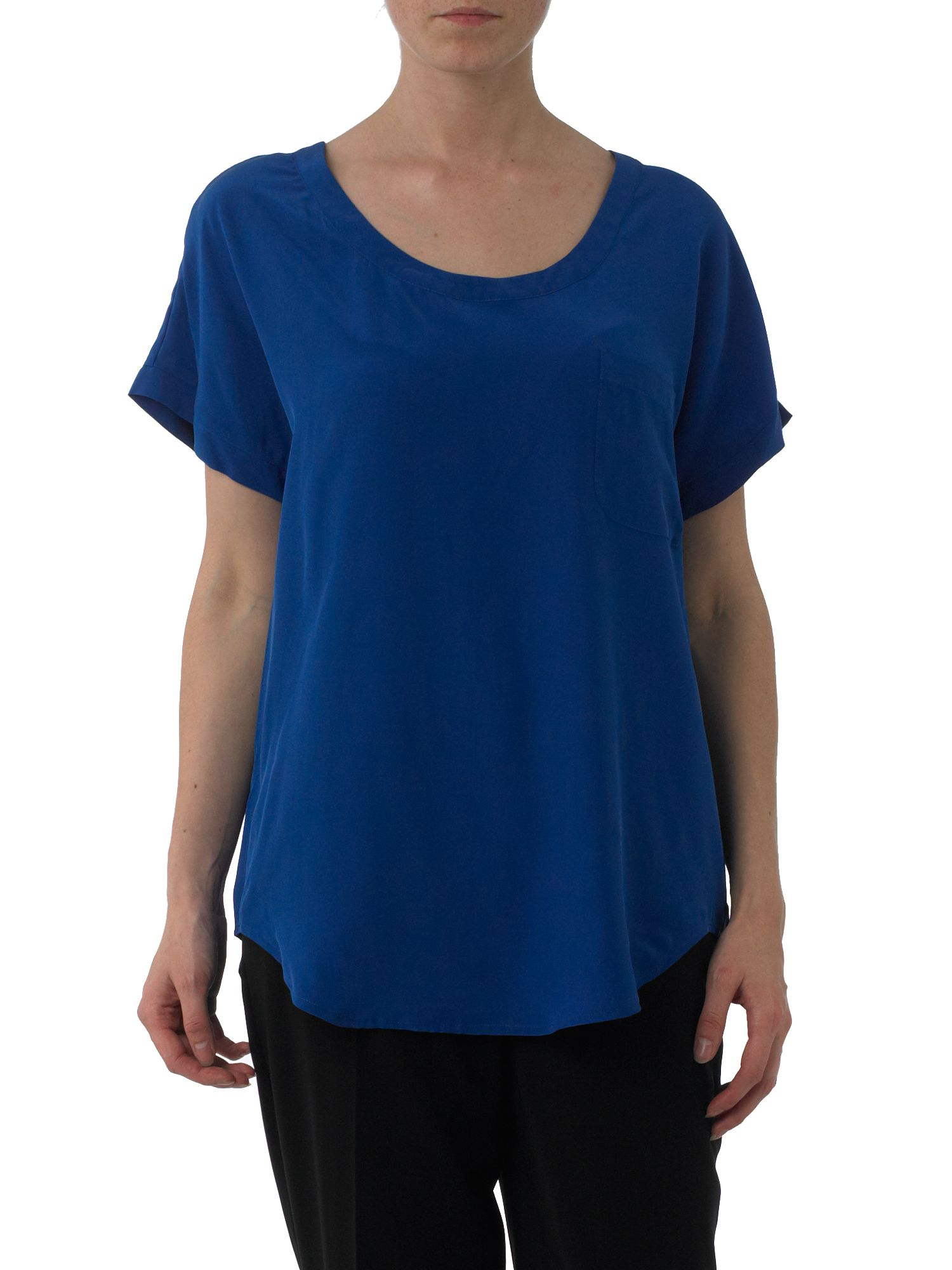 Kenneth Cole Oversized silk tee Blue product image