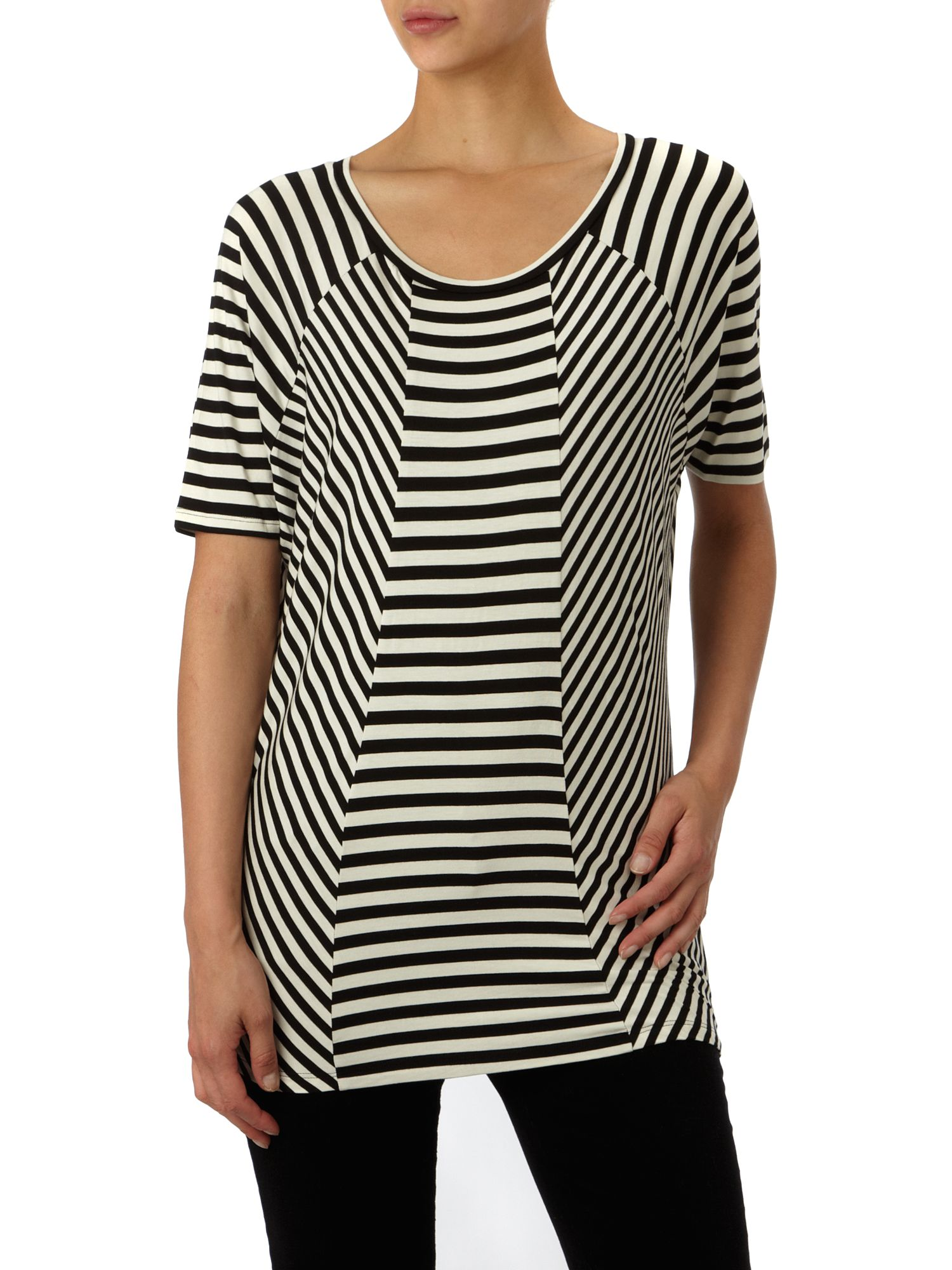 Kenneth Cole Stripe Oversize Tee Cream product image