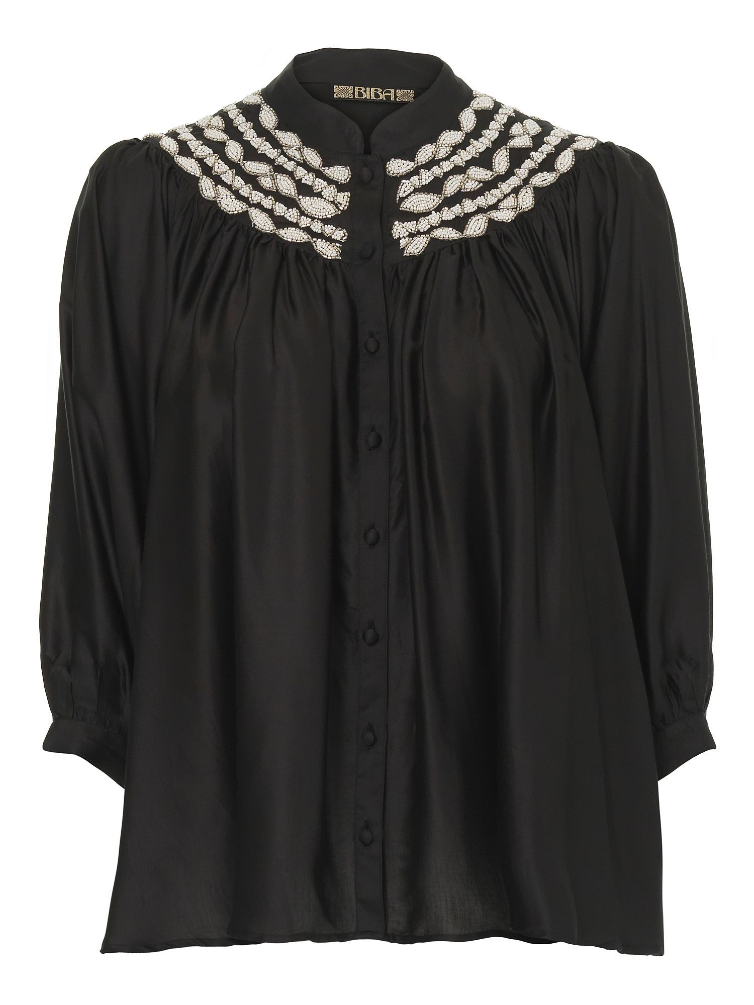 Biba Deco beaded batwing blouse Black product image