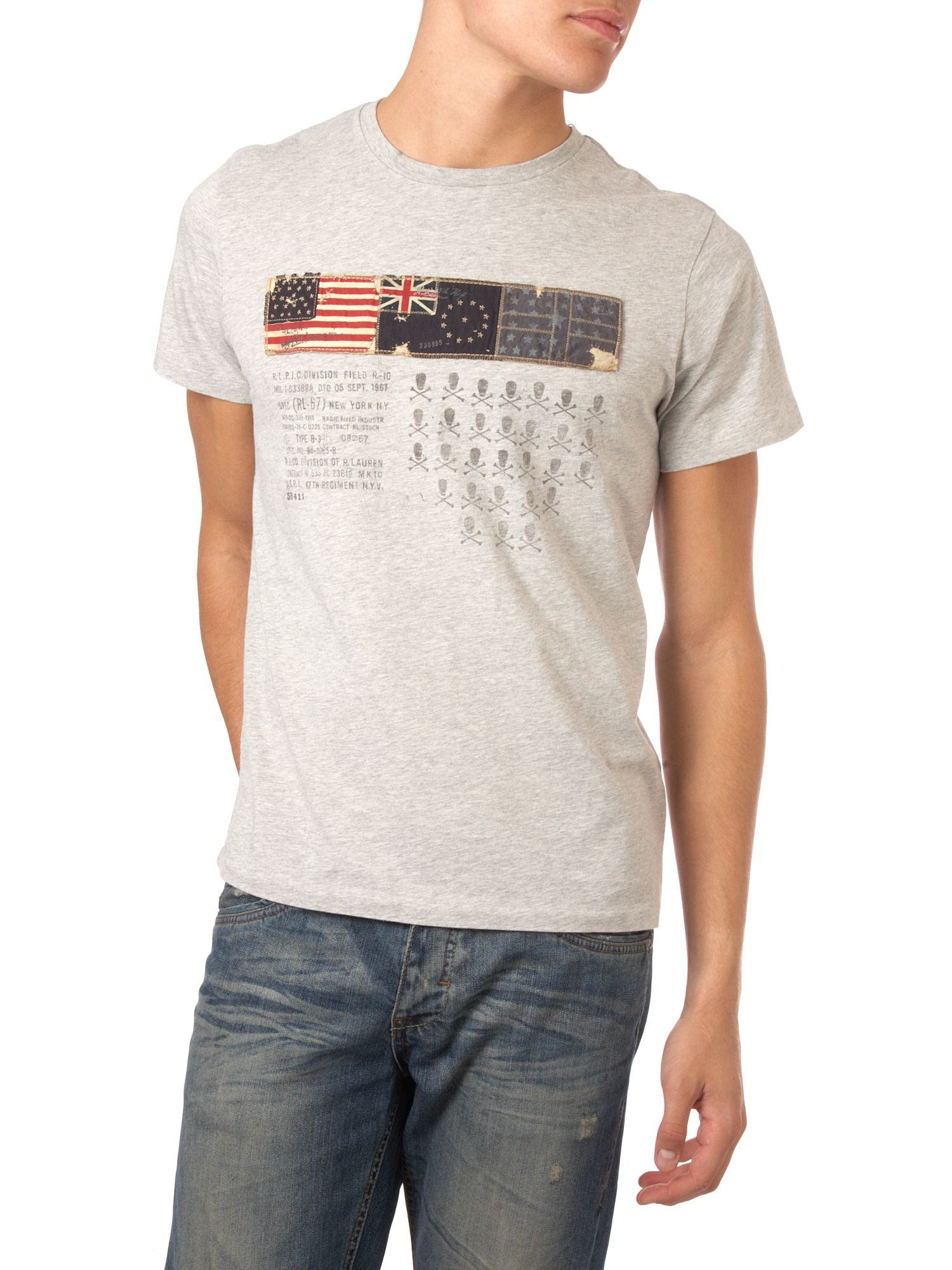 Polo Jeans Three flag T-shirt Grey product image