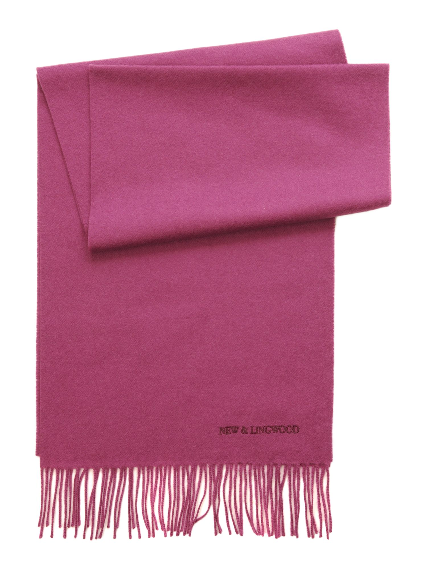 Luxury plain wool scarf