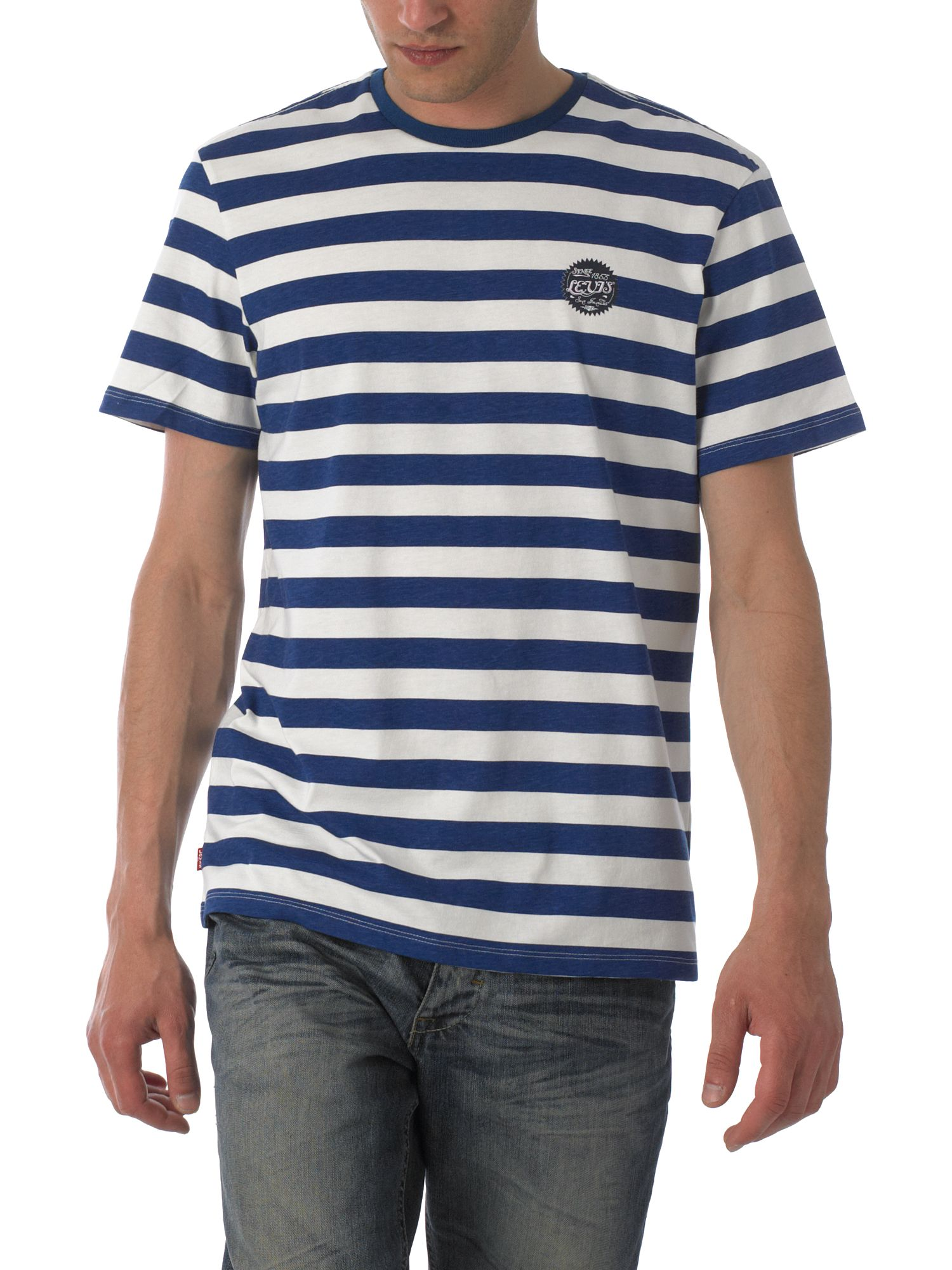 Levi`s Striped logo T-shirt Blue product image