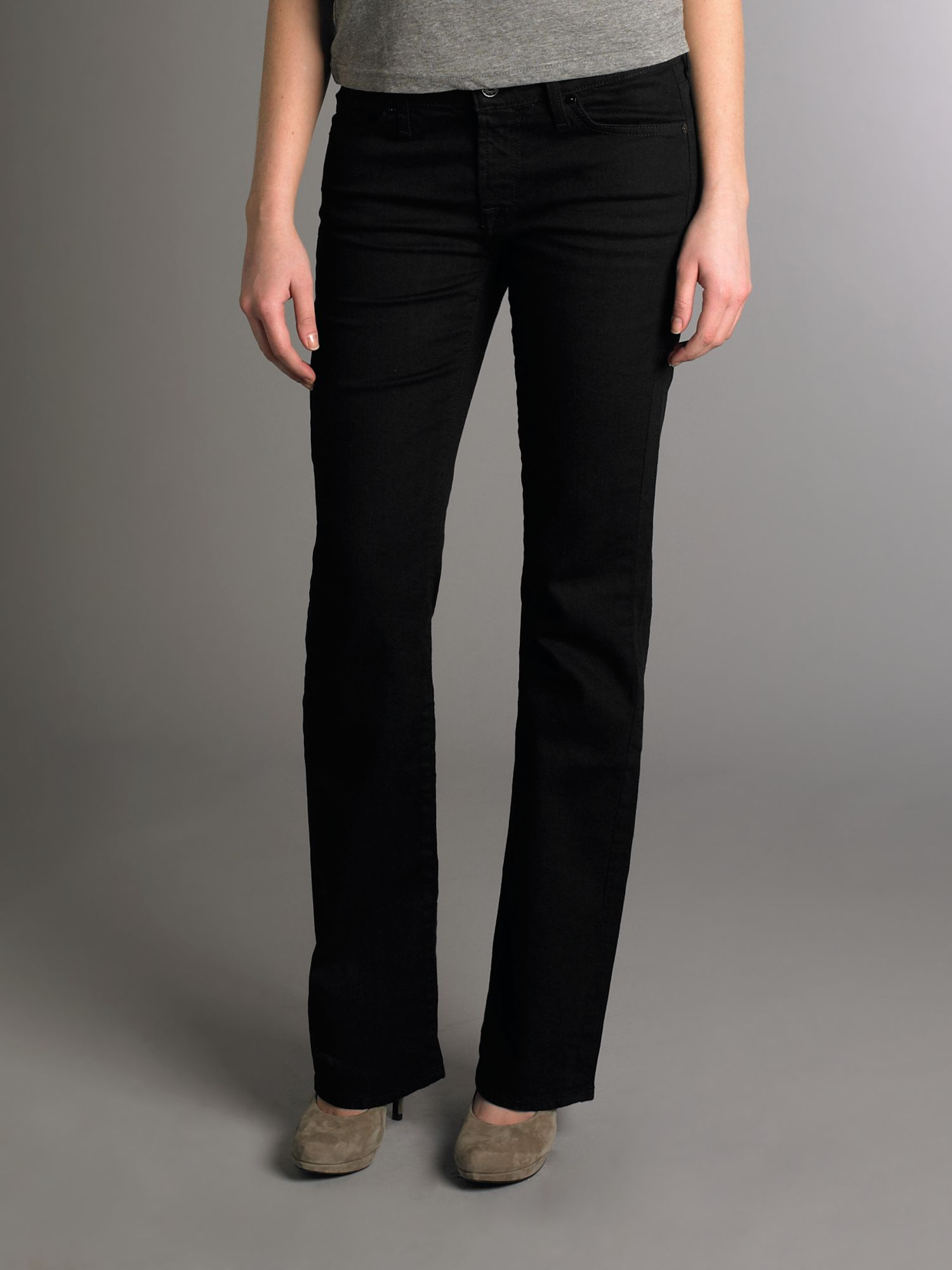 Classic boot cut mid rise in black