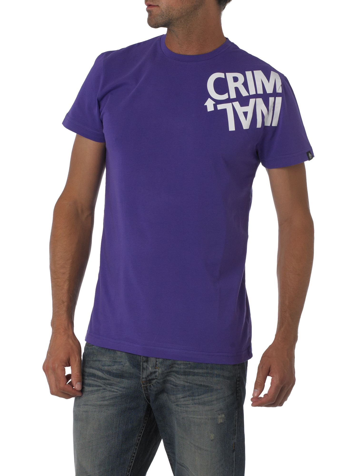 Criminal Twisted logo print crew-neck T-shirt Violet product image