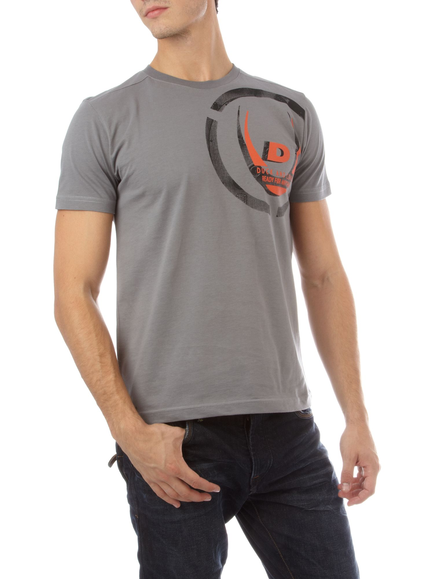 Duck and Cover Multi colour shoulder T-shirt - Slate L product image