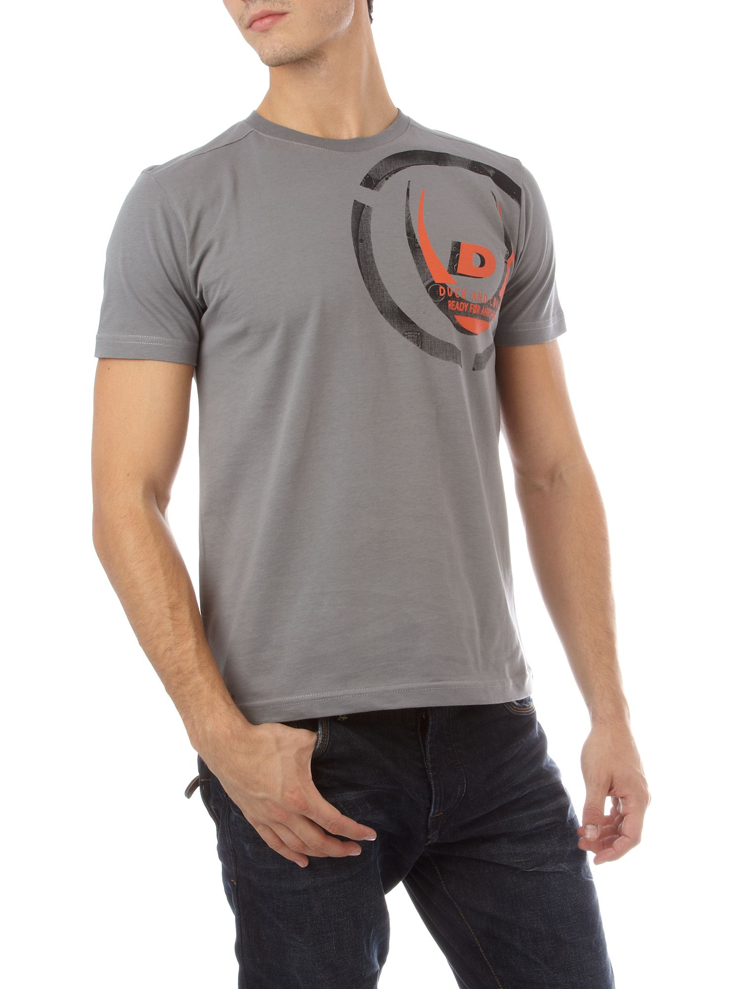 Duck and Cover Multi colour shoulder T-shirt Slate product image