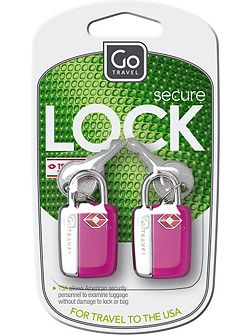Mini glo travel sentry padlocks, assorted colours