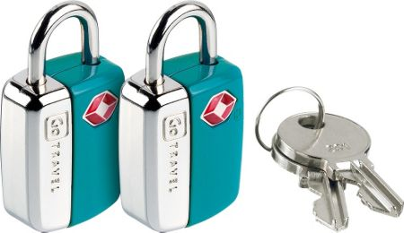 Go Travel Mini glo travel sentry padlocks, assorted colours