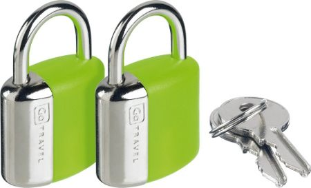 Go Travel Glo key padlocks, assorted colours